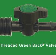 Threaded back valve