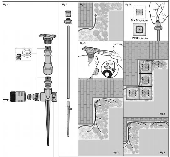 Ứng dụng bộ tưới cây tự động Micro-Spray-Flower