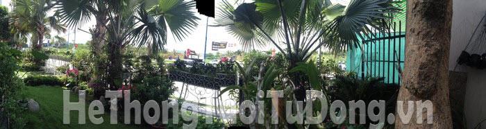 Khảo sát tưới cây cho khách hàng An Nông